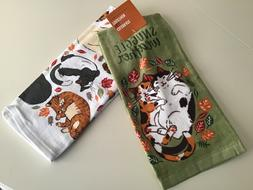 Kohl's Celebrate Fall Snuggle Weather Cats Kitchen Towels