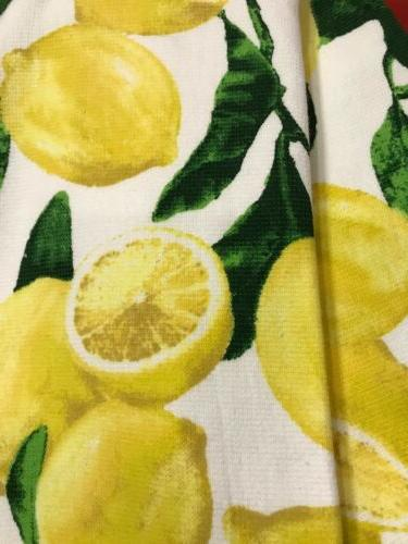 "100% Cotton Beautiful Towels 28x18"" Lemon"