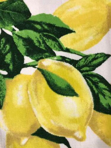 100% Beautiful Set Of 2 Kitchen Towels Cynthia Rowley Lemon