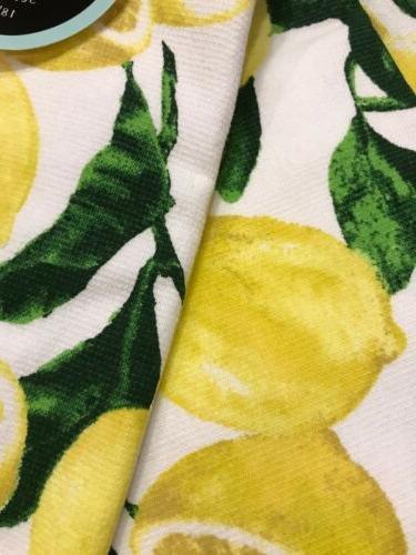 100% Set Towels Cynthia Rowley Lemon