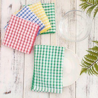 """12 100% Cotton Kitchen Towels Lot Set 11""""x17"""""""