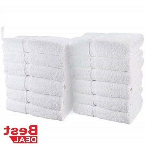 12 new white 100 percent cotton 10