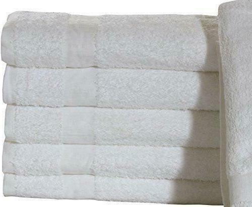 12 pack bath towels 22x44 white 100