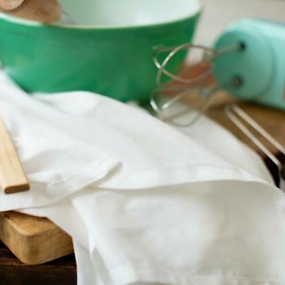 Flour Sack & Dish White Heavy