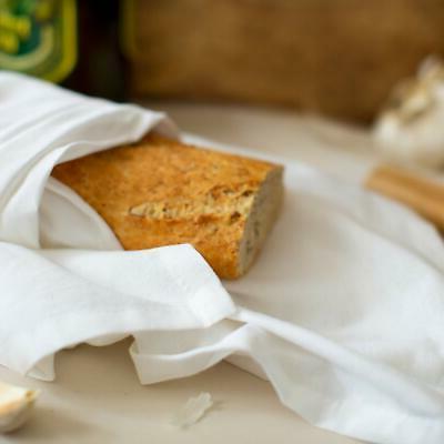 COTTON -12 Pack Flour Kitchen Dish Towels White Heavy Weight