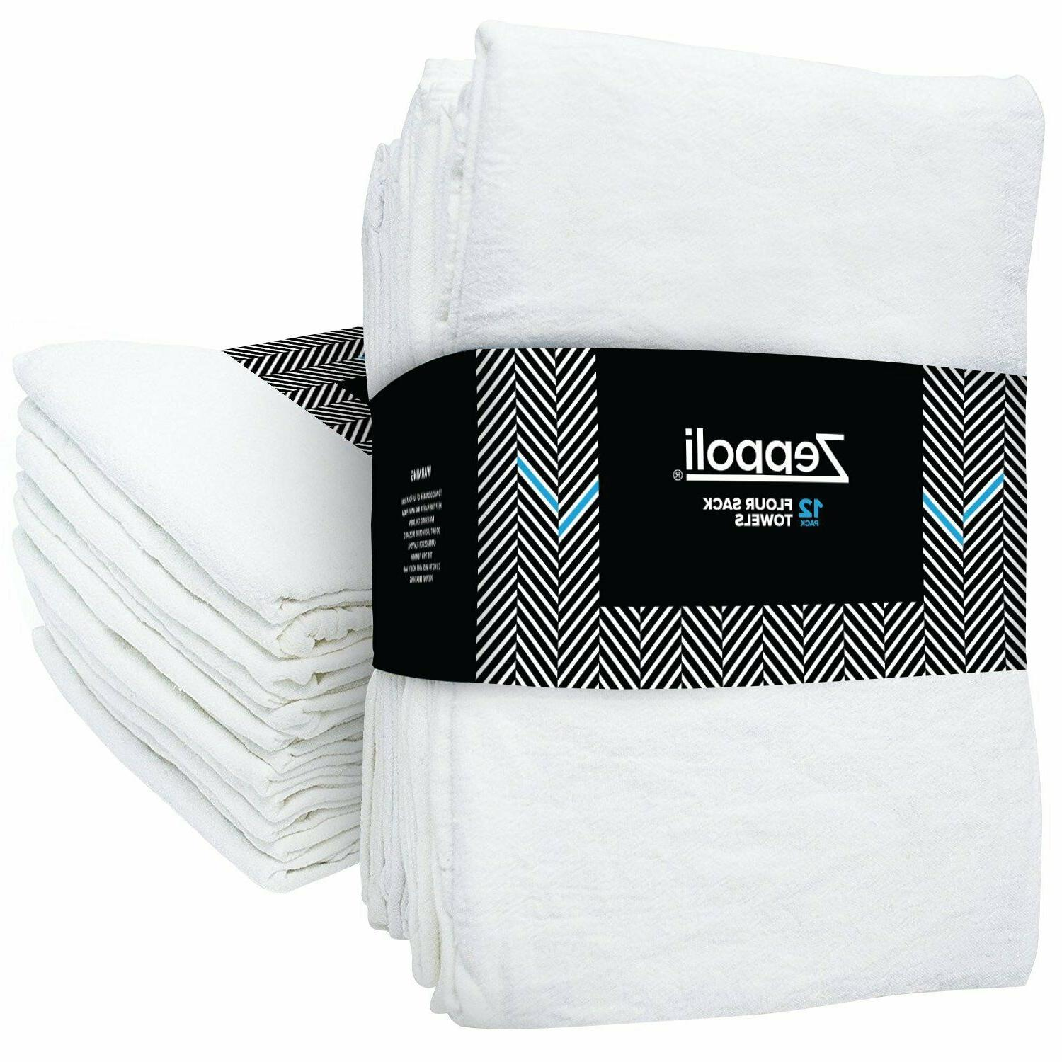 12 pack flour sack towels 31 x