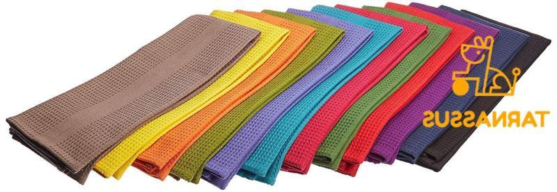 12 pack multicolor kitchen towels 16x28 inches