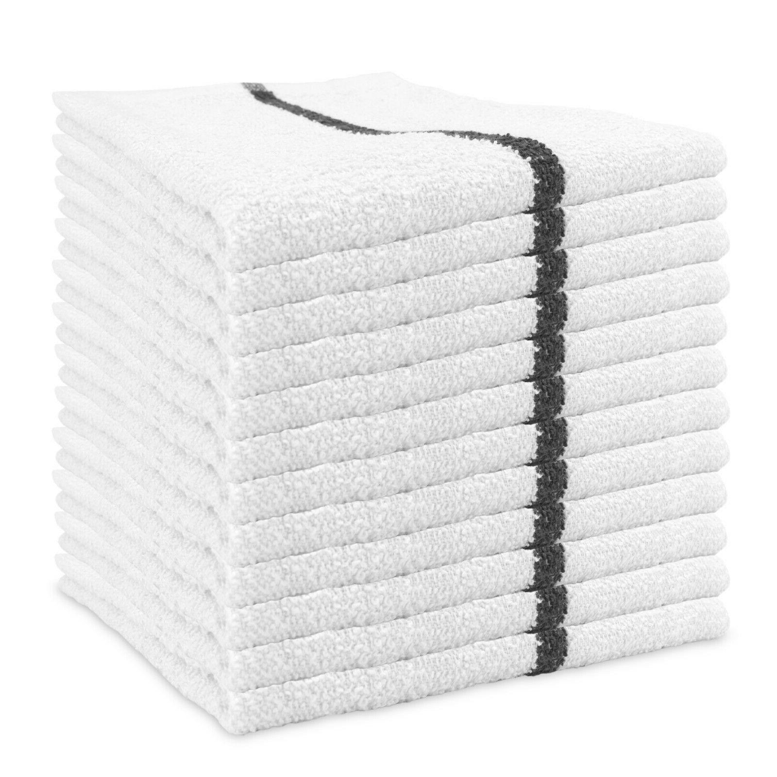 Qwick Wick Bar Mop Terry Towels -  16 x 19 Cotton Kitchen To