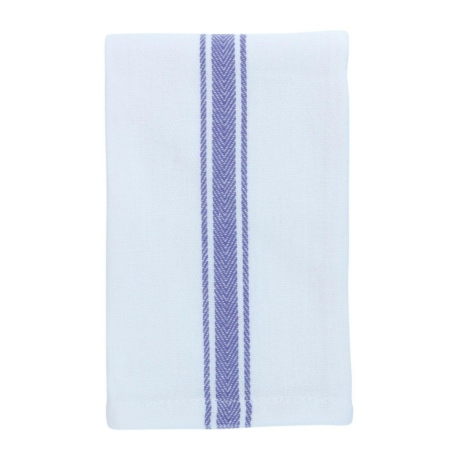 12 Striped Kitchen Tea - Dish Towels - 15 x 25 in Color Options