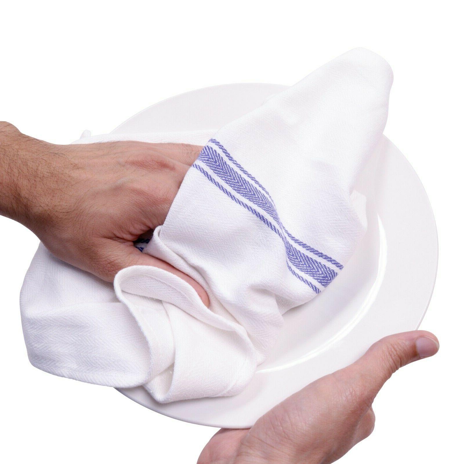 12 Kitchen Towels Dish Towels - x 25 -