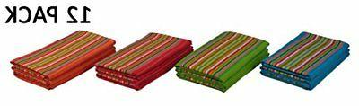 Cotton Craft 12 Salsa Stripe Towels