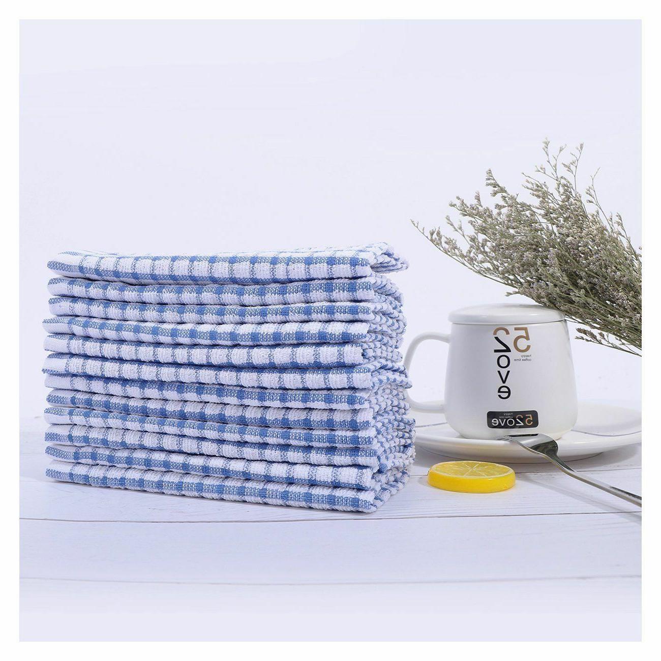 12 pcs dish cloth 100 percent cotton