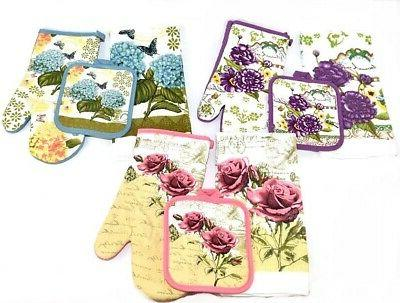 12 piece floral delight kitchen towels pot