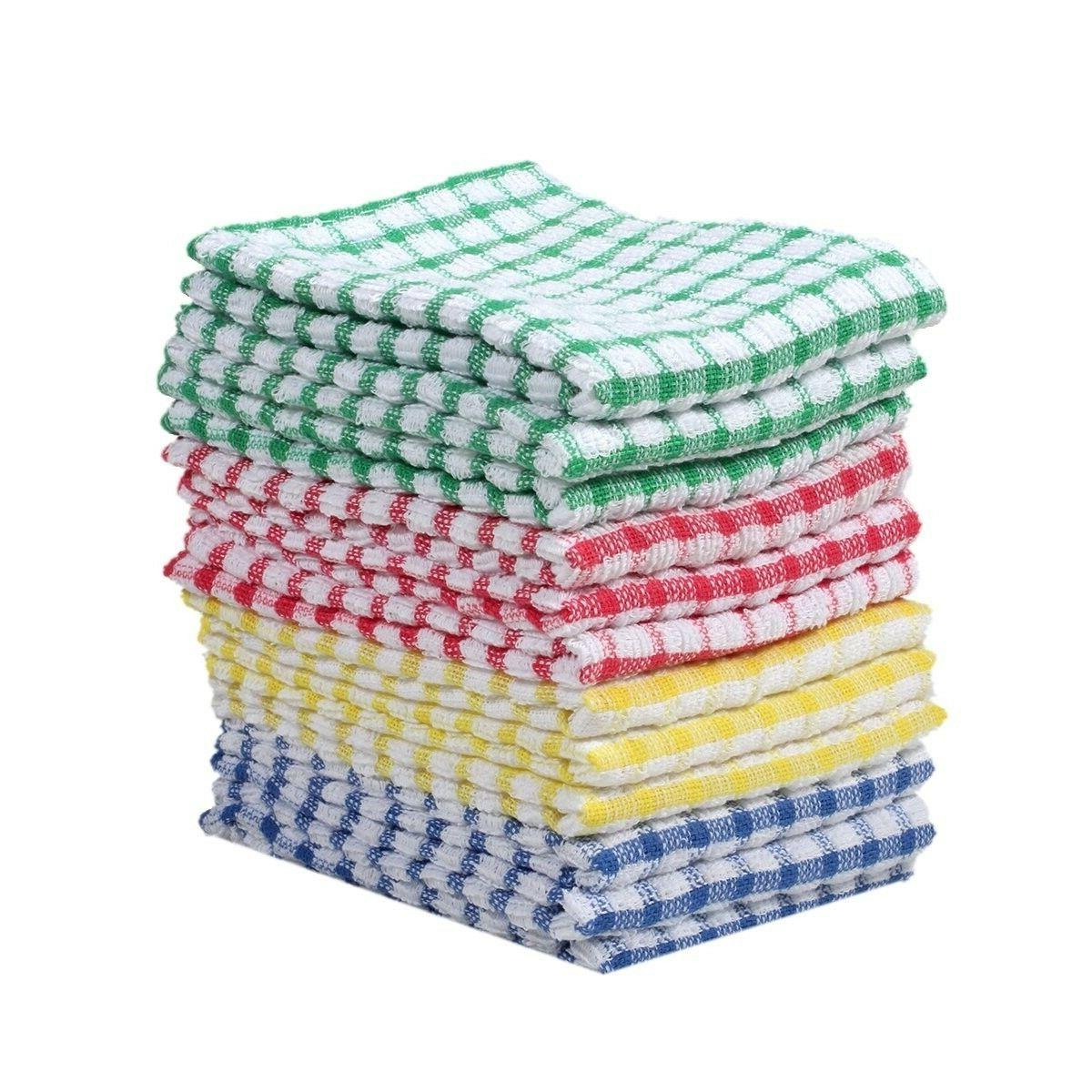 12 Dish Towel Lot color Cleaning