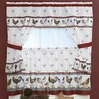 2 NEW TOP OF THE MORNING ROOSTER CHICKEN CURTAINS TOWEL POT