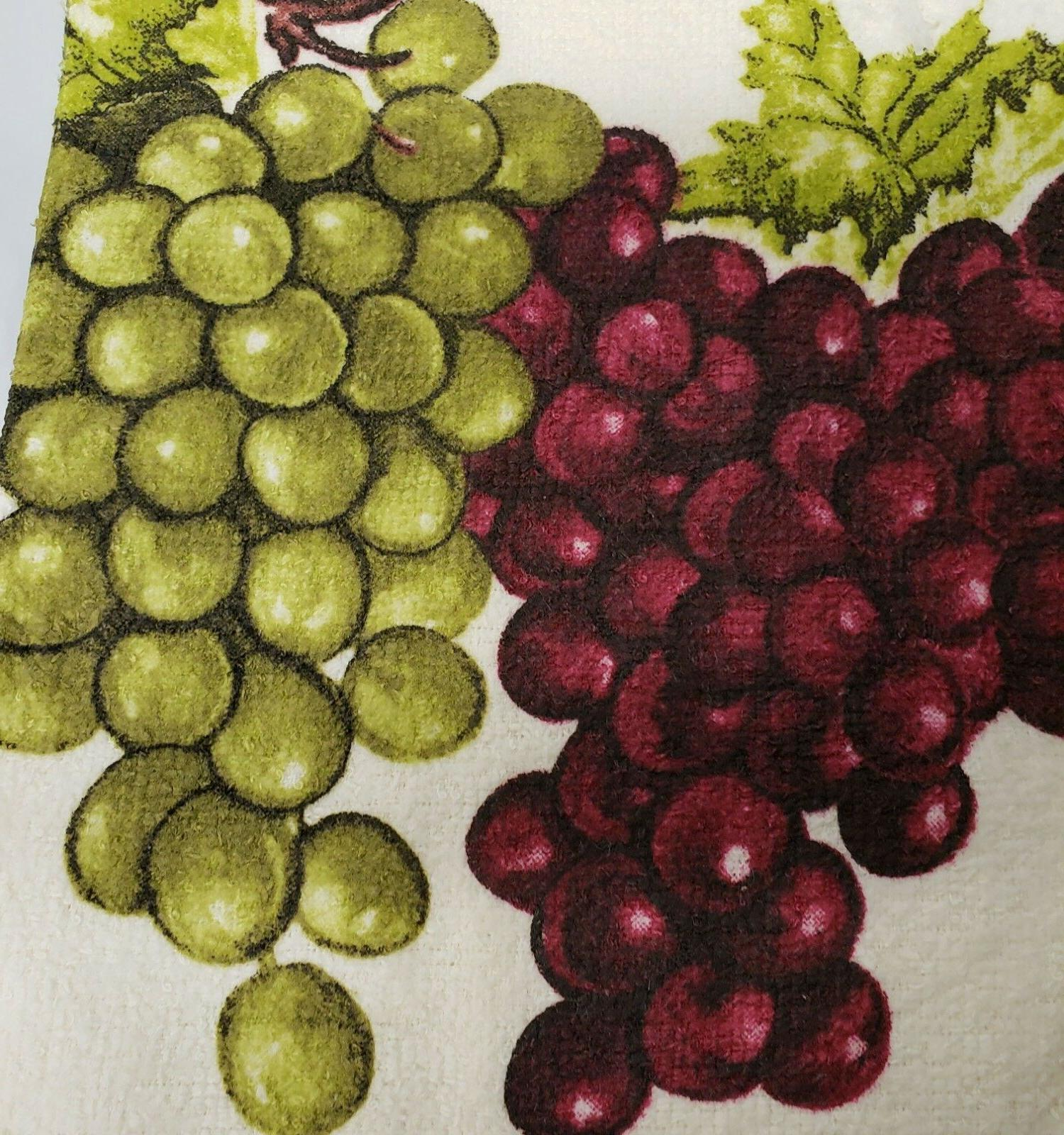 2 TOWELS GREEN GRAPES