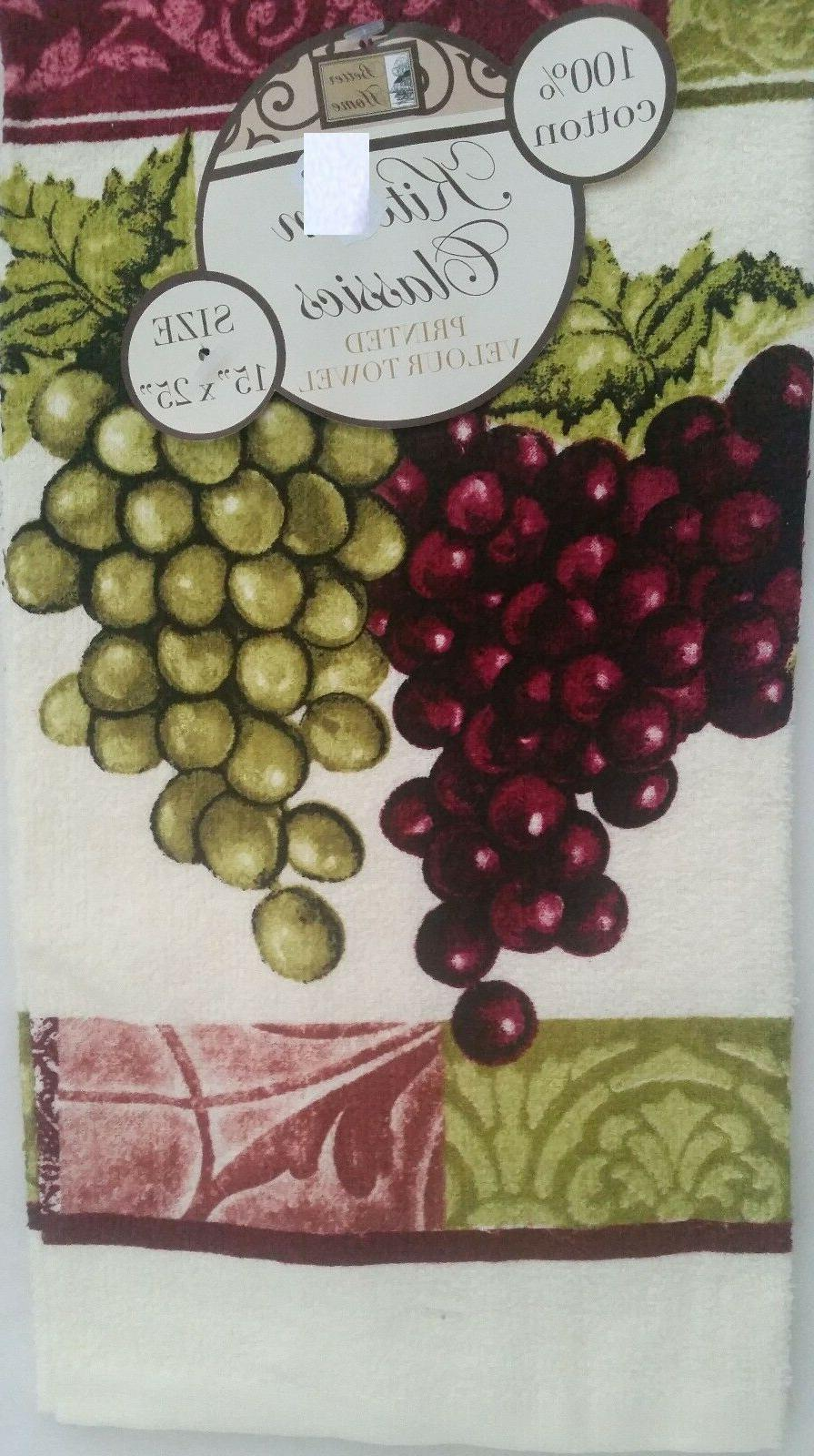 2 TOWELS GRAPES BH