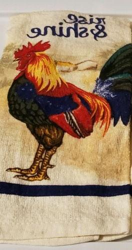 """Towels Rise Shine Rooster 15"""" x"""