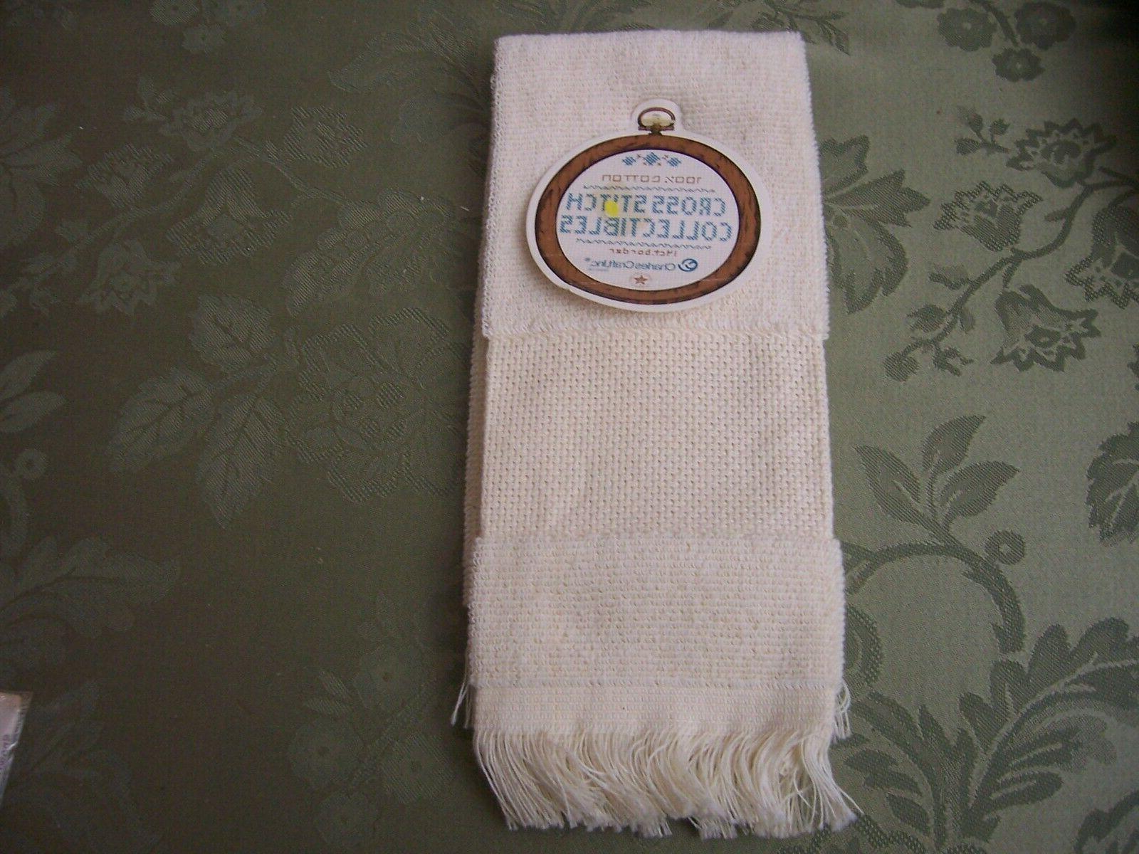 2 Kitchen Hand/Dish White/cream Aida Cloth
