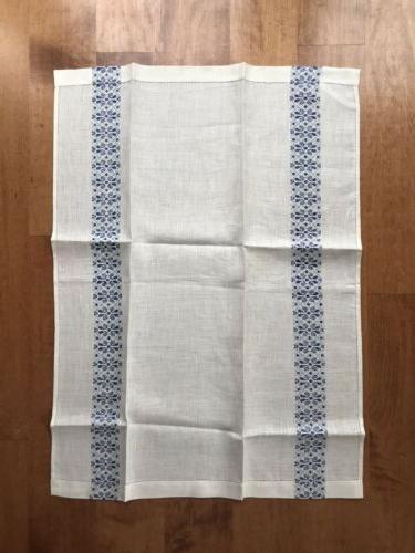 2 FRETTE LINEN TEA TOWELS DISH