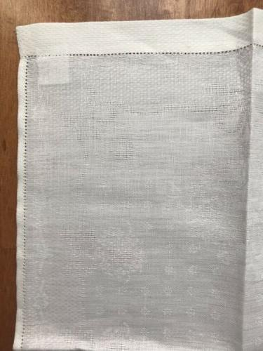 2 NEW FRETTE LINEN DAMASK TOWELS CLOTHS