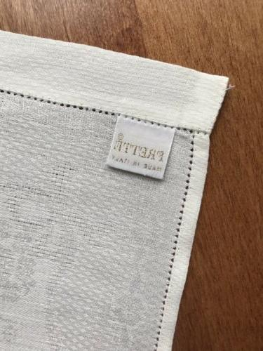 2 FRETTE LINEN KITCHEN TOWELS DISH