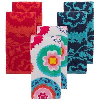 2 oui by kitchen towels set colorful