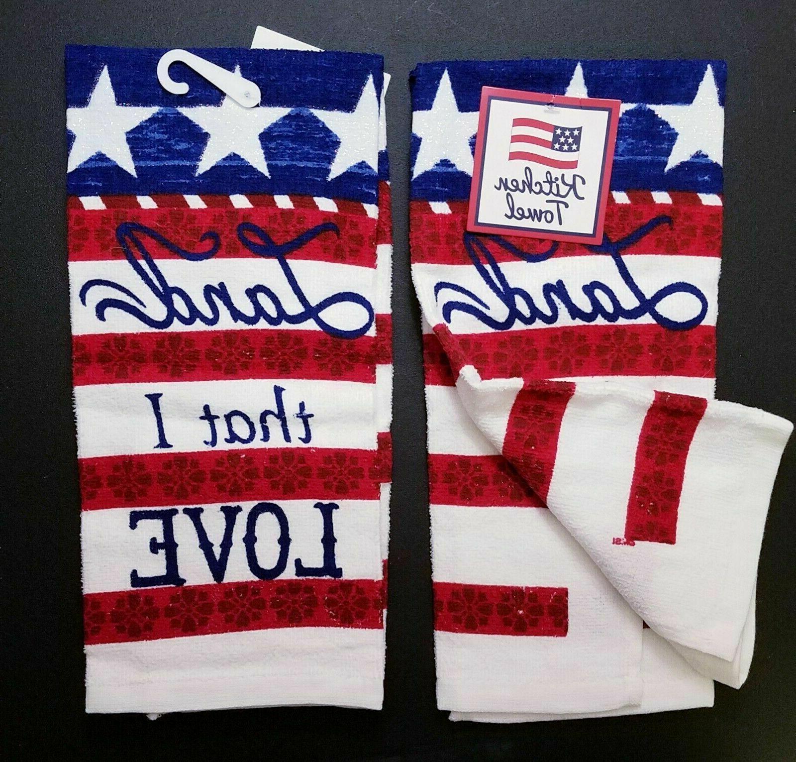 2 Towels Kitchen Patriotic 4th