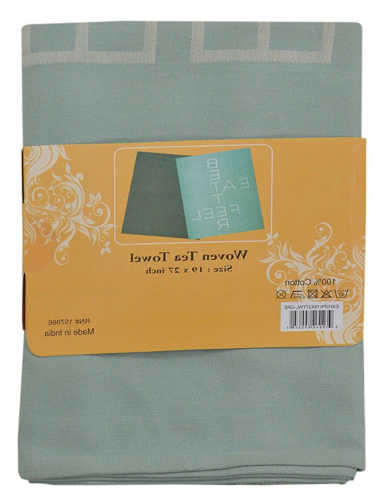 2 Pack Set Cloths Tea Towel Washcloths Excel