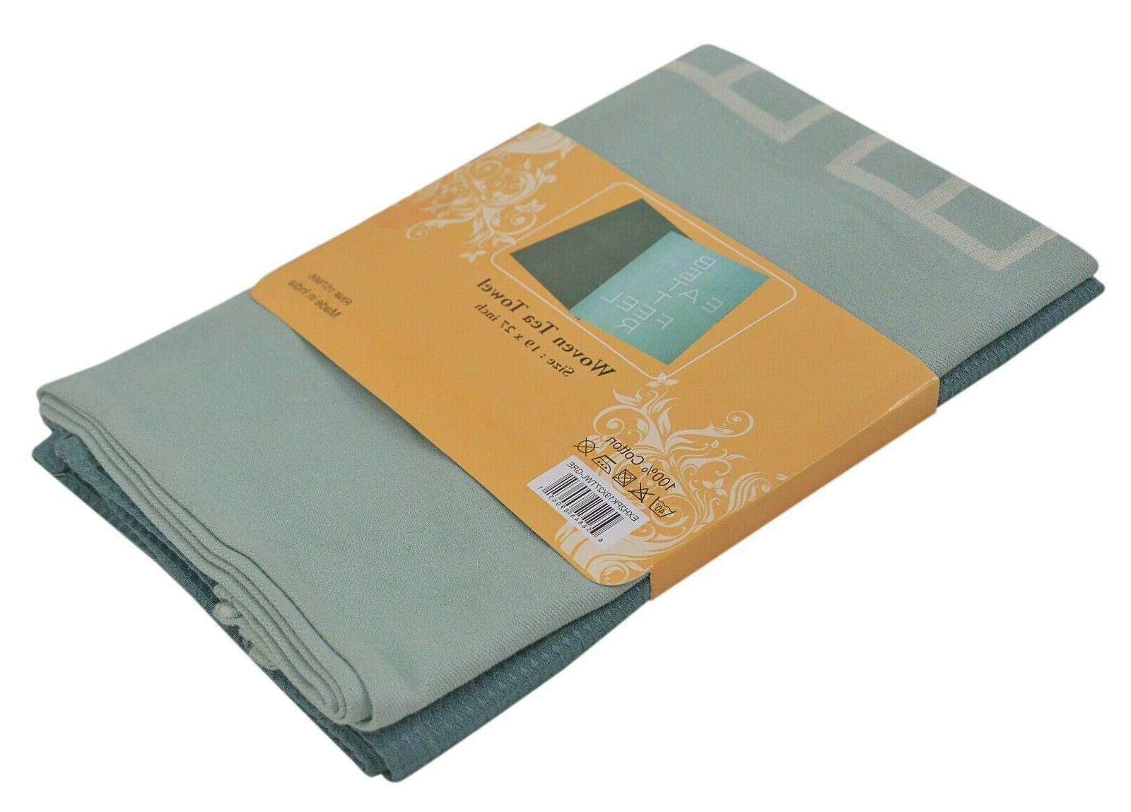 2 Set Cotton Cloths Tea Washcloths Excel