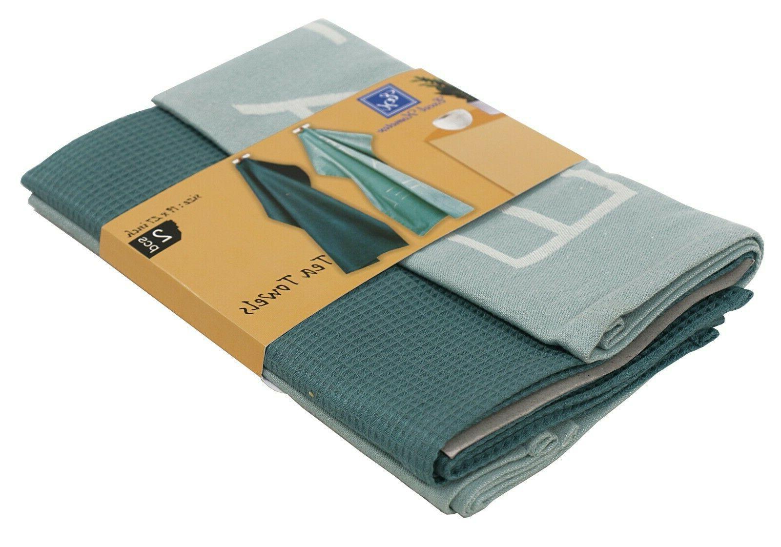 2 pack towels set cotton dish cloths