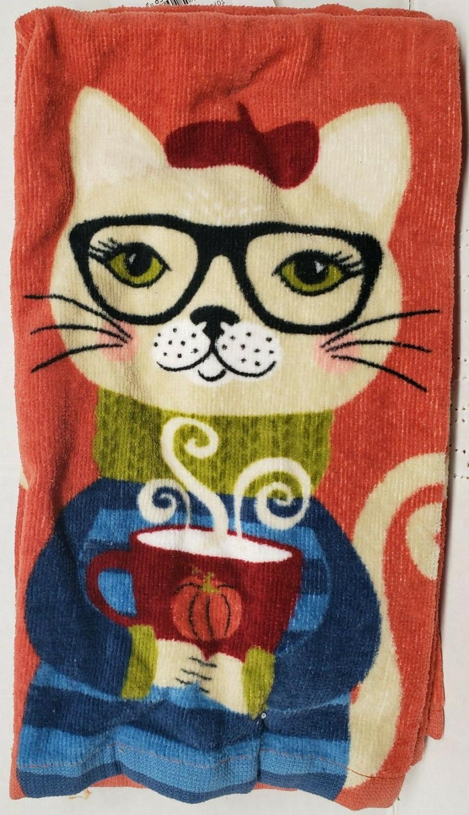 2 SAME COTTON TERRY CAT IN W/COFFEE,