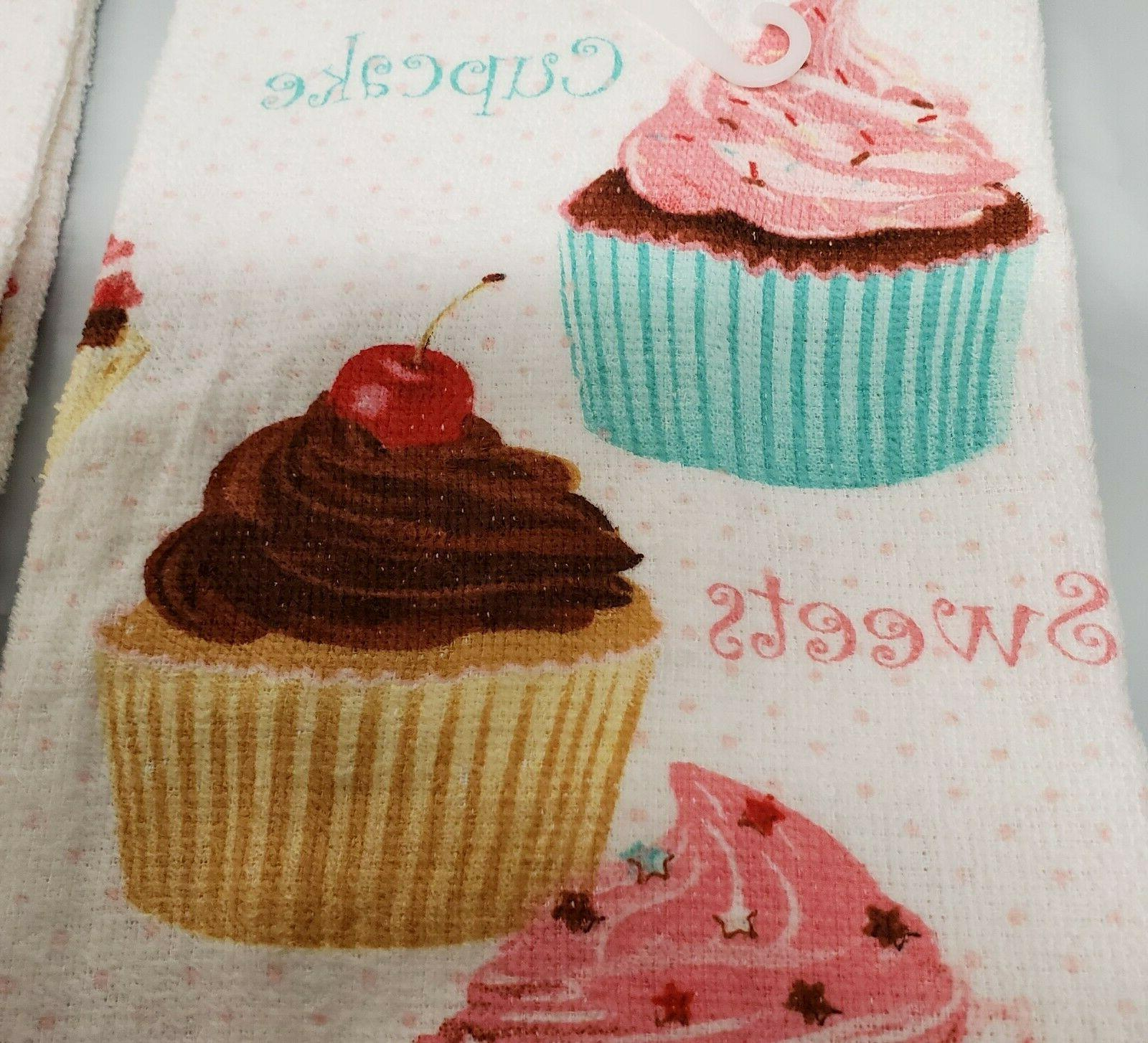 2 TOWELS SWEETS, OF CUPCAKES, GE