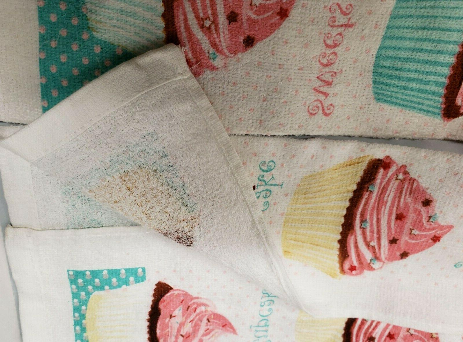 2 PRINTED KITCHEN TOWELS BUNCH
