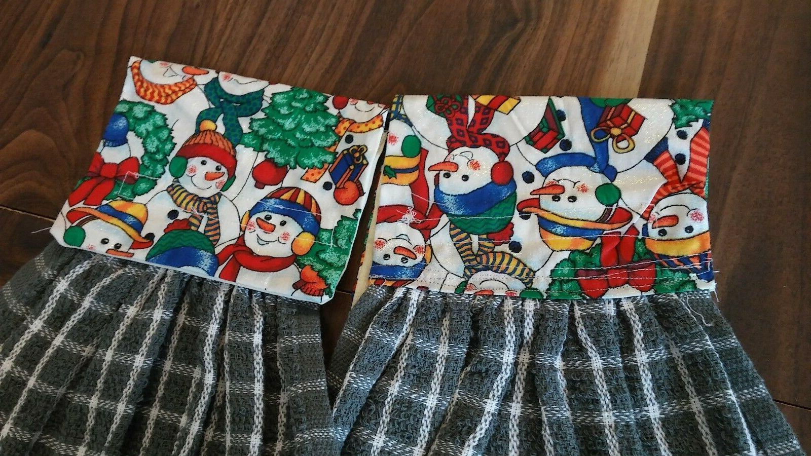 2 KITCHEN DISH TOWELS LOOP FASTENER