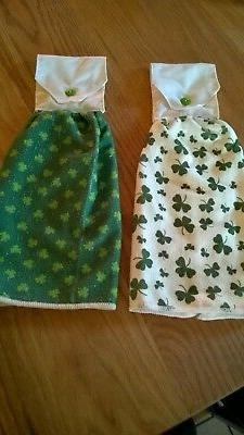 2 towels - SHAMROCK  HANGING  KITCHEN TOWEL
