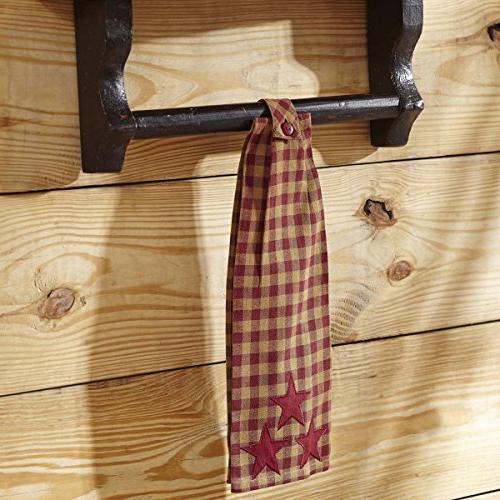 VHC Brands Cody Cotton Appliqued Star Kitchen Towel,