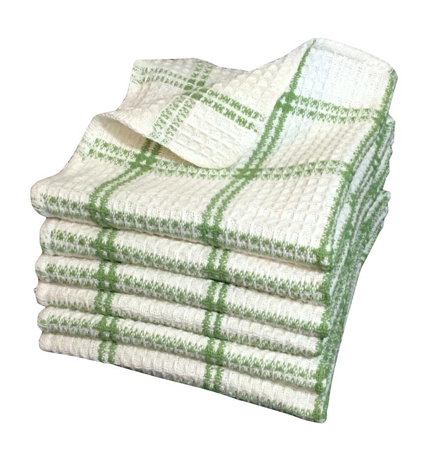 6Pc Waffle Weave Dish Cloths Professional Kitchen Towels 100