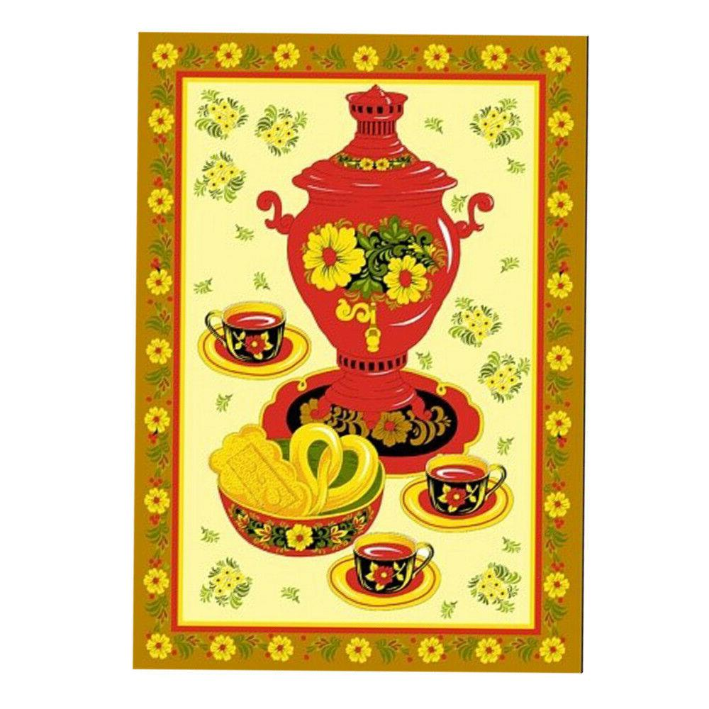 3 Kitchen Towels with Khokhloma each. Made in