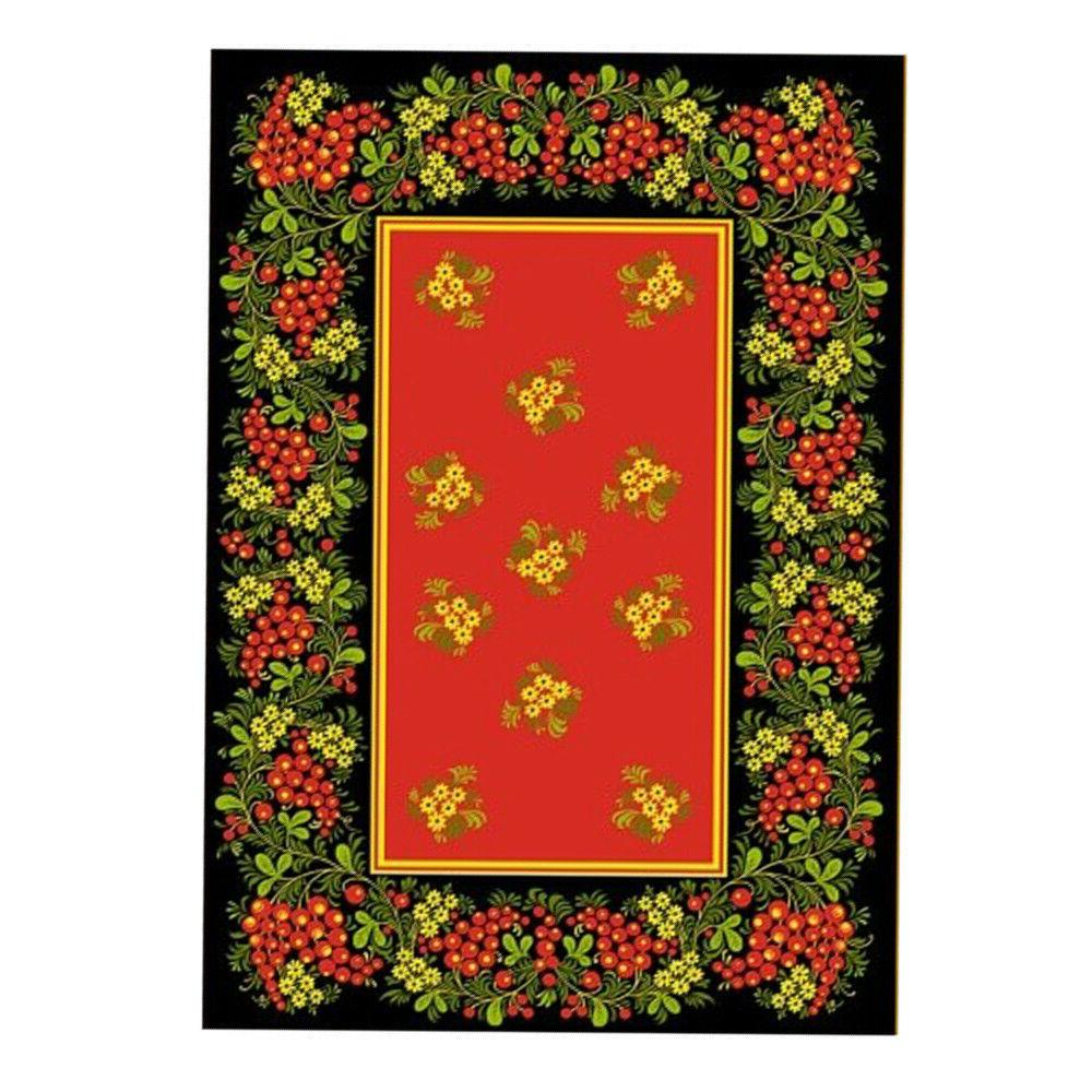 """3 Cotton with Khokhloma 16x28"""" each. Made"""