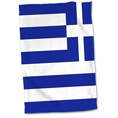 3D Rose Greek Flag Towel, 15 x 22