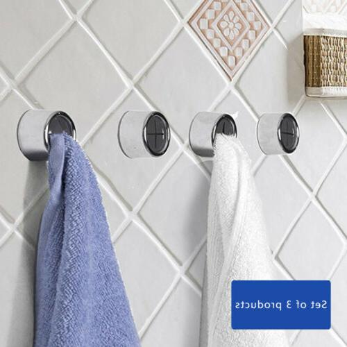 3PCS Adhesive Towel Holder Wall Hook Mount Rack Tool