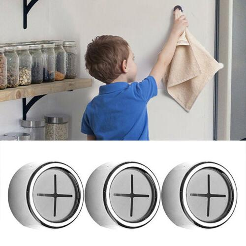 3pcs premium adhesive round towel holder wall