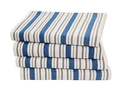 Cotton Craft - 4 Pack - Basket Weave Kitchen Towels -Azure B