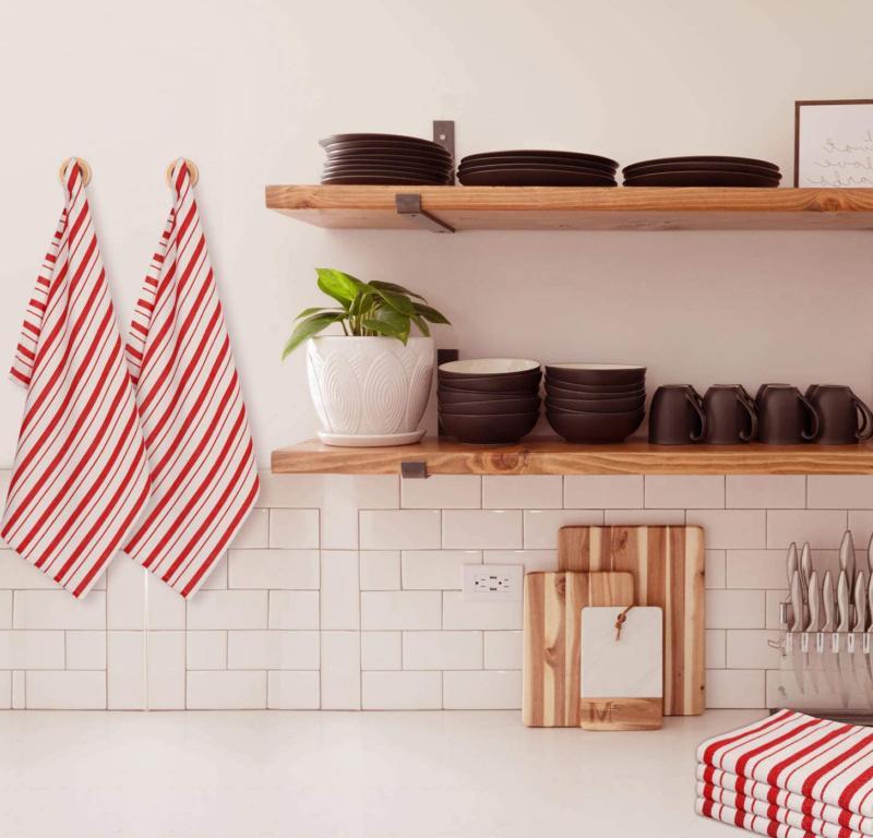 Cotton Pack - Basketweave Kitchen Towels - Cotton Oversized