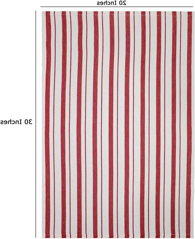 Cotton Craft Pack Basketweave Towels - Red Cotton - Oversized