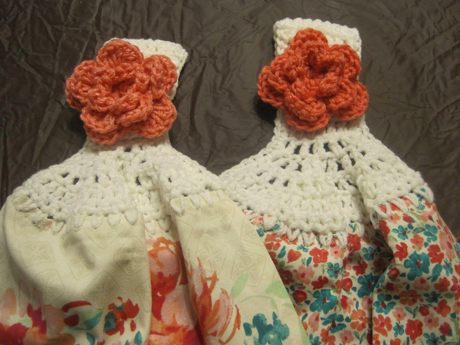 Woman Crochet Towels