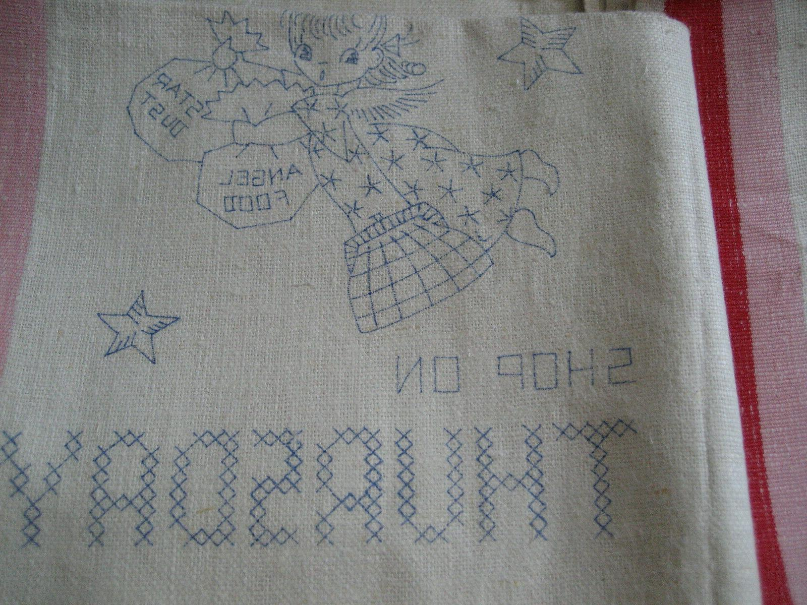 4 Vtg Pre-Stamped Linen to AN ANGEL
