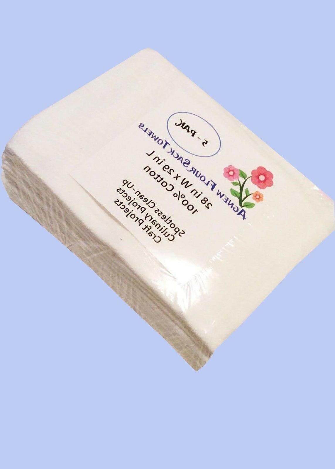 5 25 pack white flour sack kitchen