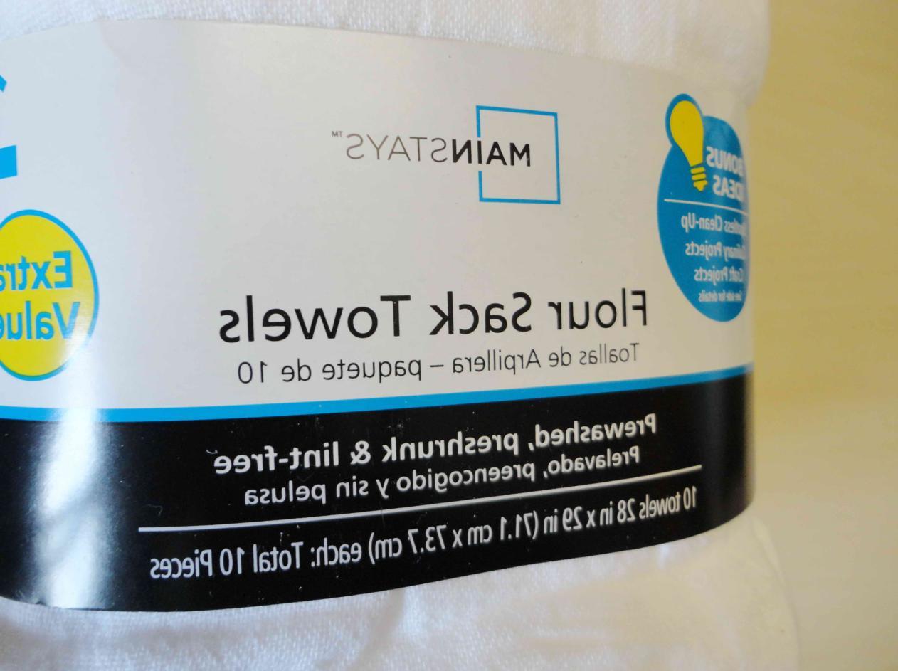"""5PCS 100PCS Flour Sack Towels White Large 28""""x29"""""""